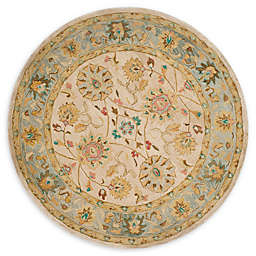 Safavieh Anatolia Suri 6' Round Handcrafted Area Rug in Ivory