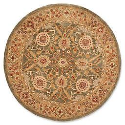 Safavieh Anatolia Amara 4' Round Handcrafted Area Rug in Brown