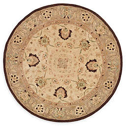 Safavieh Anatolia paxton 4' Round Handcrafted Area Rug in Ivory