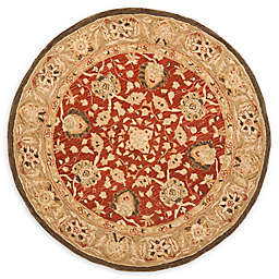 Safavieh Anatolia Paxton 8' Round Handcrafted Area Rug in Rustic Green