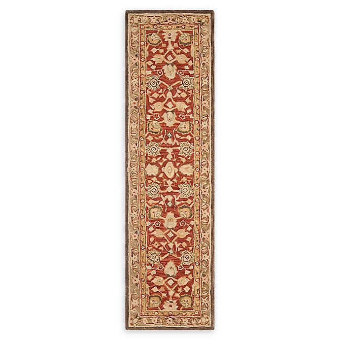 Alternate image 1 for Safavieh Anatolia Paxton 2'3 x 10' Handcrafted Runner in Rustic Green
