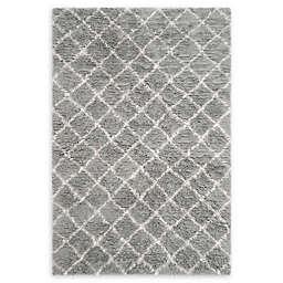 Safavieh Kenya Faded Diamond 6' x 9' Hand-Knotted Area Rug in Grey