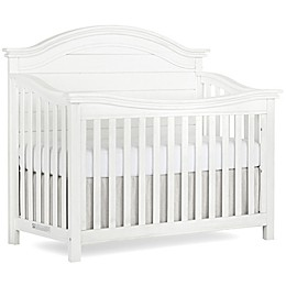 evolur™ Belmar 5-In-1 Convertible Curved Top Crib in Weathered White