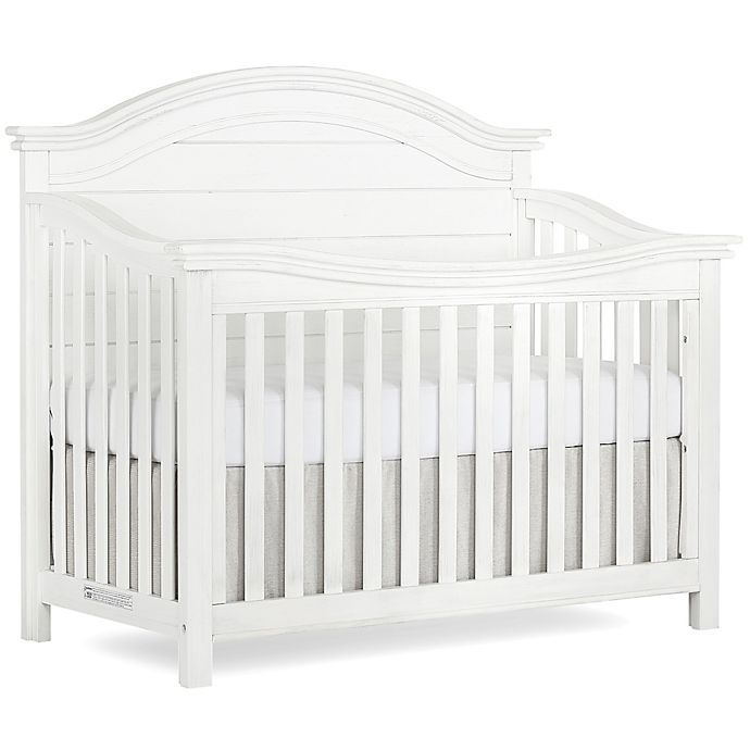 Alternate image 1 for evolur™ Belmar 5-In-1 Convertible Curved Top Crib in Weathered White