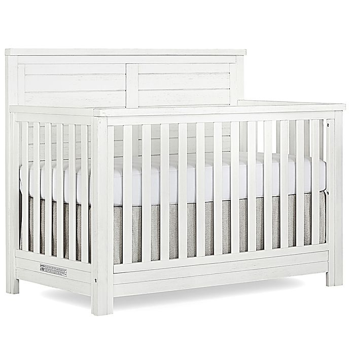 Alternate image 1 for evolur™ Belmar 5-In-1 Convertible Flat Top Crib in Weathered White
