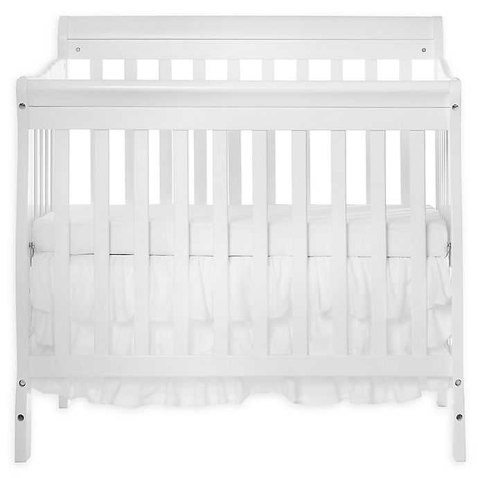 Alternate image 1 for Dream On Me Aden 3-in-1 Convertible Mini Crib in White