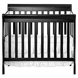 Dream On Me Aden 3-in-1 Convertible Mini Crib in Black
