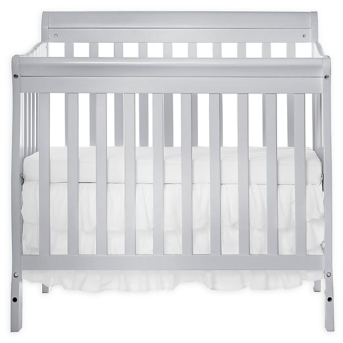 Alternate image 1 for Dream On Me Aden 3-in-1 Convertible Mini Crib in Grey