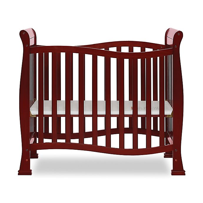 Alternate image 1 for Dream On Me Piper 4-In-1 Convertible Mini Crib in Cherry