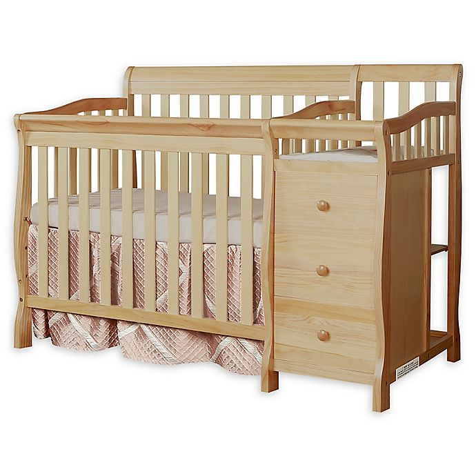 Alternate image 1 for Dream On Me Jayden 4-in-1 Mini Convertible Crib and Changer