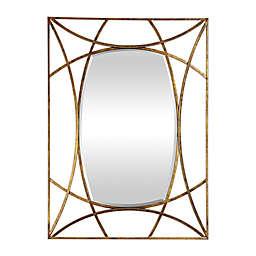 Uttermost Abreona 43-Inch x 31-Inch Rectangular Wall Mirror in Metallic Gold
