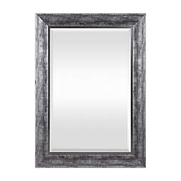 Uttermost Affton 25.5-Inch x 35.5-Inch Rectangular Wall Mirror in Burnished Silver