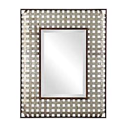 Uttermost Fabelle 36-Inch x 28-Inch Rectangular Wall Mirror in Bronze