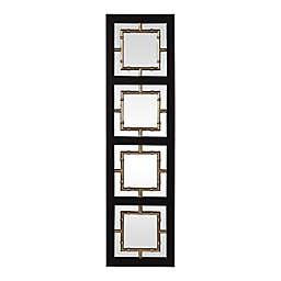 Uttermost Tadon 74.5-Inch x 20-Inch Rectangular Wall Mirror in Black