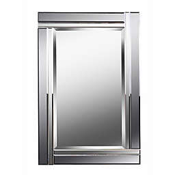 Kenroy Home Still 36-Inch x 24-Inch Rectangular Mirror in Smoked and Silver Mirror