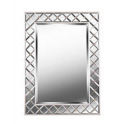 Kenroy Home Quill 38-Inch x 28-Inch Rectangular Mirror in Champagne
