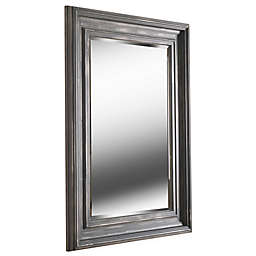 Kenroy Home Wyandotte 38-Inch x 28-Inch Rectangular Mirror in Distressed Grey and Silver