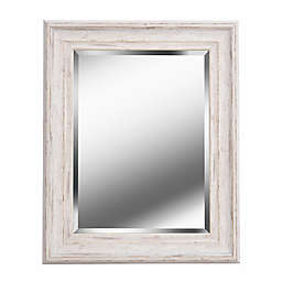 Kenroy Home Warren Square Wall Mirror in Distressed White