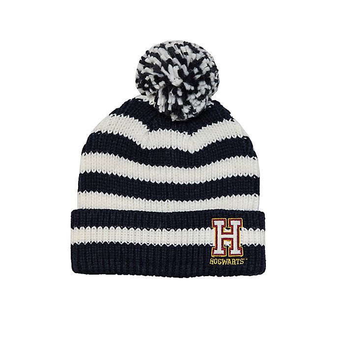 42fd42eb3b3 Harry Potter Hogwarts Chenille Striped Beanie