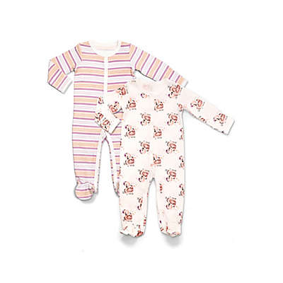 Rosie Pope® 2-Pack Swans and Stripes Coveralls