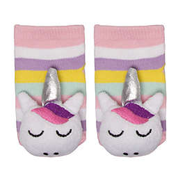 Cuddl Duds® Size 0-6M Unicorn Rattle Socks