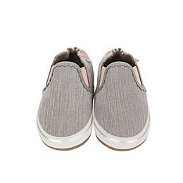 Robeez® Pop of Pink Liam Casual Shoe in Grey