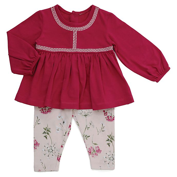 Alternate image 1 for Kidding Around Size 9M 2-Piece Pant Set in Pink