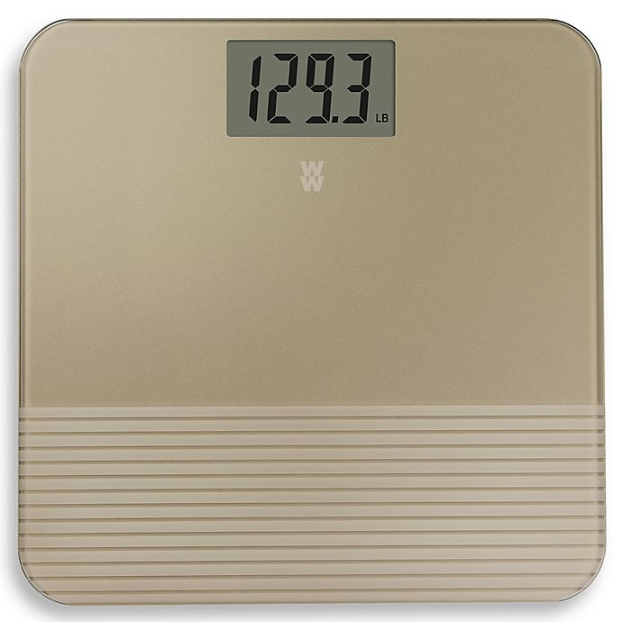 Alternate image 1 for Weight Watchers® by Conair™ Digital Bathroom Scale in Gold