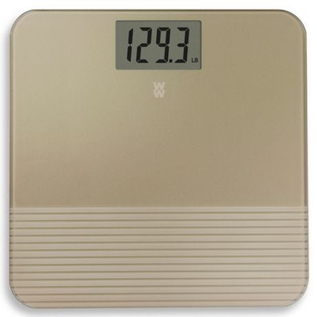 Weight Watchers By Conair Digital Bathroom Scale In Gold Bed Bath Beyond