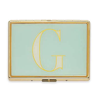 """kate spade new york Monogrammed Letter """"G"""" ID Holder in Sky Blue"""