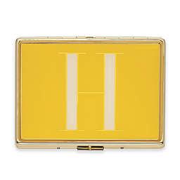 "kate spade new york Monogrammed Letter ""H"" ID Holder in Mustard"