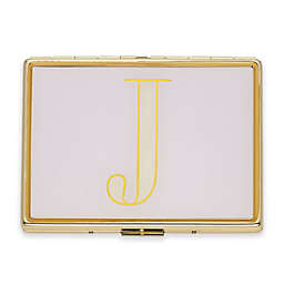 """kate spade new york Monogrammed Letter """"J"""" ID Holder in Lilac"""