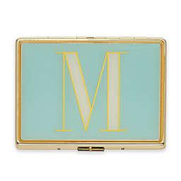 "kate spade new york Monogrammed Letter ""M"" ID Holder in Aqua"