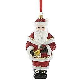 Reed & Barton Santa with Bell Christmas Ornament