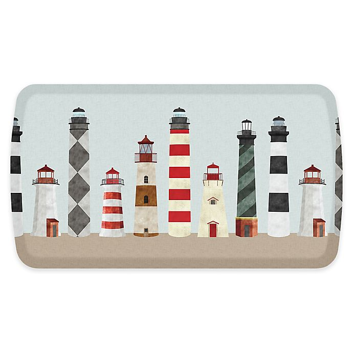 Alternate image 1 for GelPro® Elite Lighthouses 20-Inch x 36-Inch Comfort Floor Mat in Red
