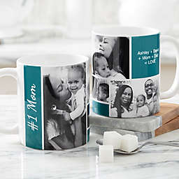 Family Love for Her 11 oz. Photo Coffee Mug in White