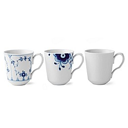 Royal Copenhagen Gifts with History Mugs (Set of 3)