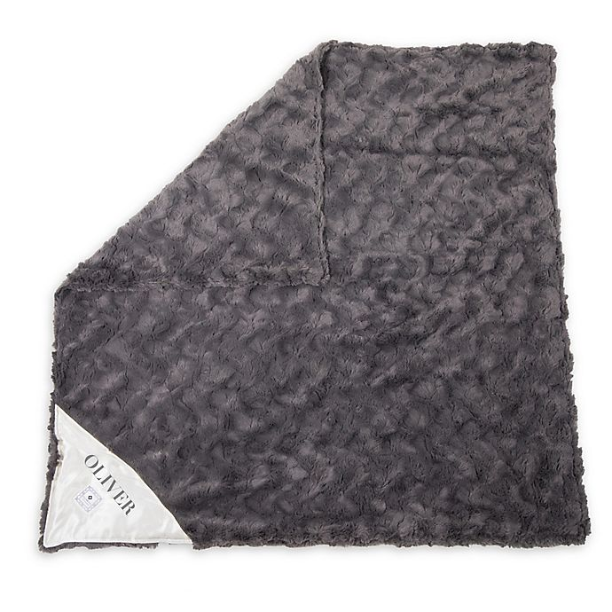Alternate image 1 for Zalamoon Charcoal Strollet Polyester Security Blanket