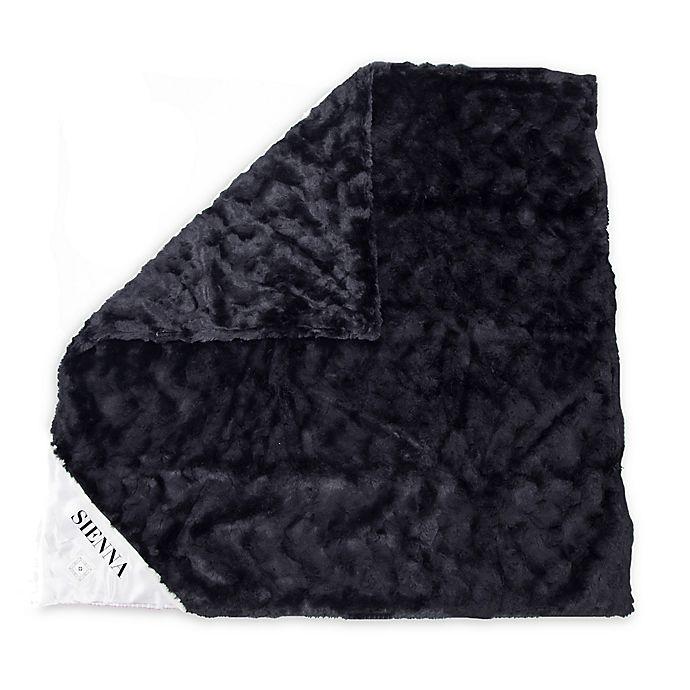 Alternate image 1 for Zalamoon Black Ivory Strollet Polyester Security Blanket