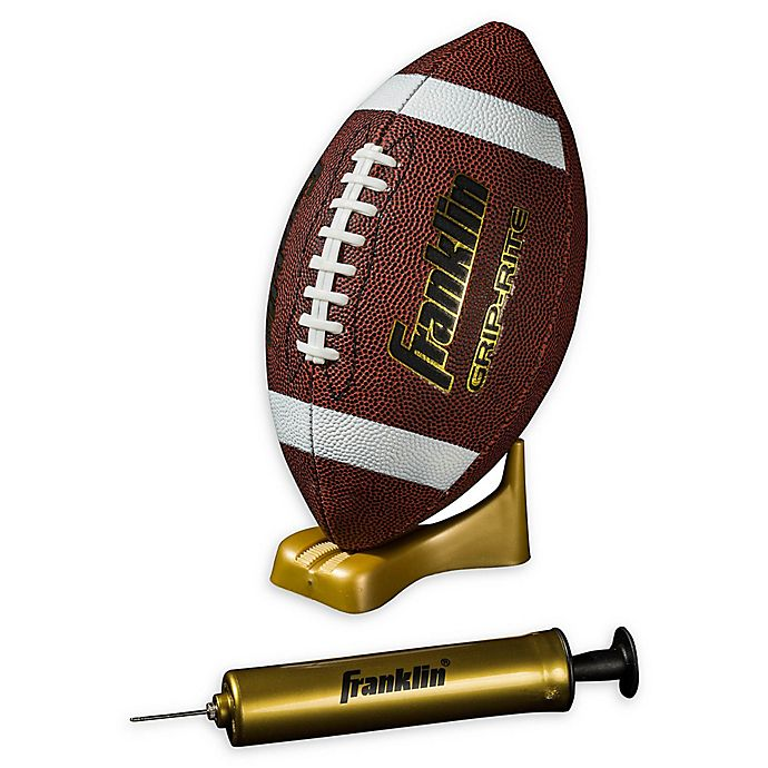 Alternate image 1 for Franklin® Sports Junior Grip-Rite Pump and Tee Football Set