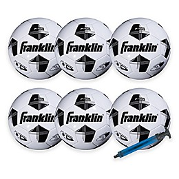 Franklin® Sports 6-Pack Soccer Balls with Pump in White/Black