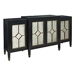 Madison Park Lyle Mirrored Buffet in Black