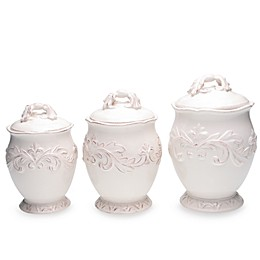 Certified International Firenze 3-Piece Canister Set in Ivory