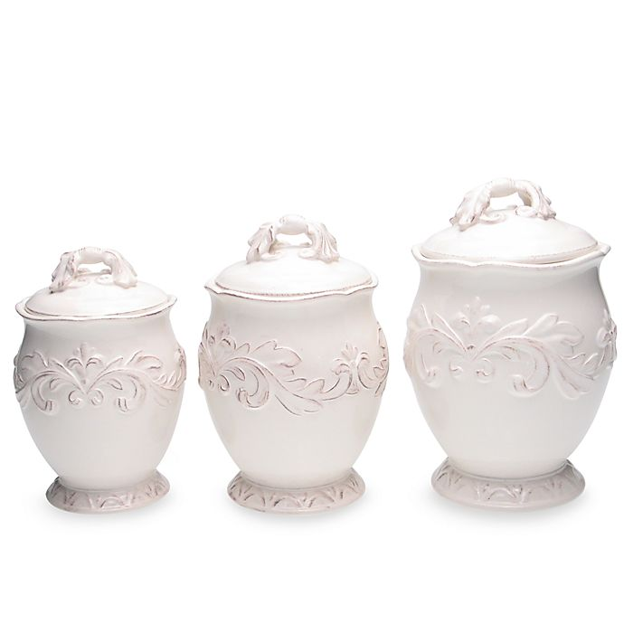 Alternate image 1 for Certified International Firenze 3-Piece Canister Set in Ivory