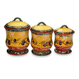 Certified International French Olives 3-Piece Canister Set