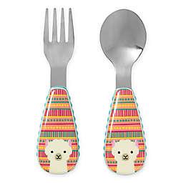 SKIP*HOP® Zootensils Fork & Spoon in Llama