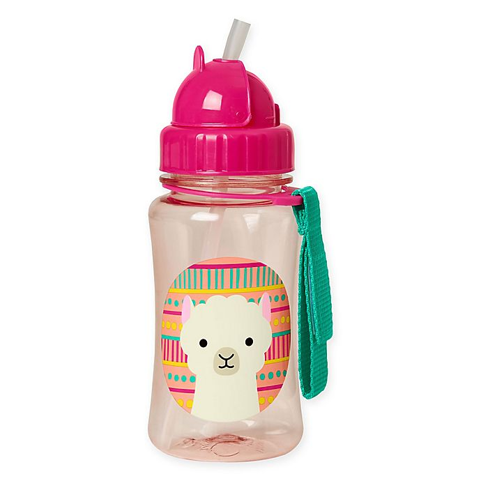 Alternate image 1 for SKIP*HOP® Zoo 12 oz. Llama Straw Bottle