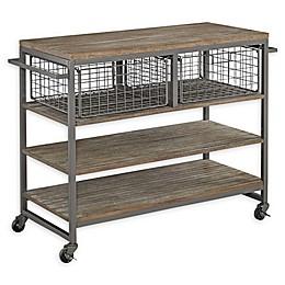Home Styles Barnside Metro Kitchen Cart in Grey