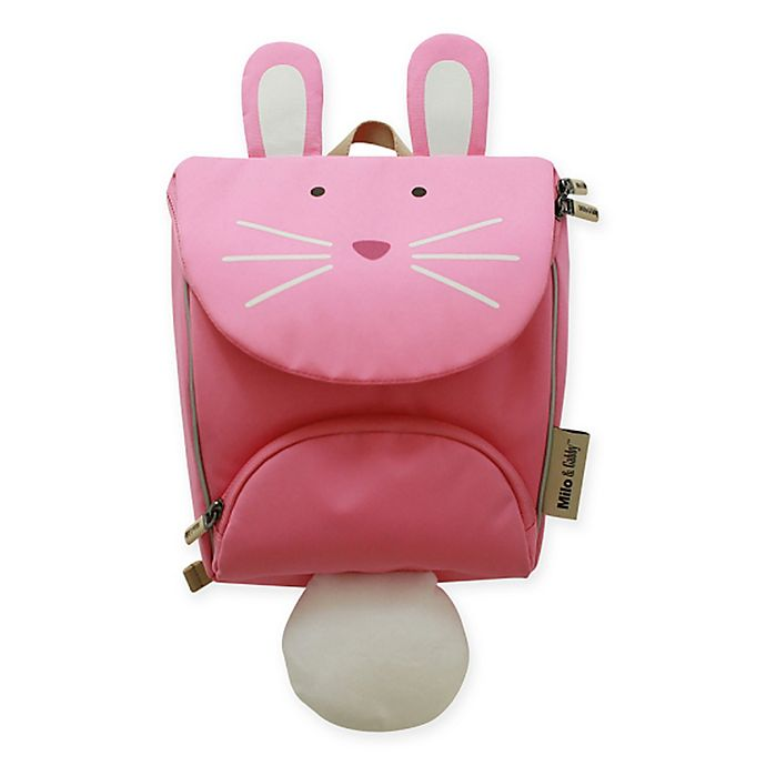 Alternate image 1 for Milo & Gabby Lola Animal Shaped Backpack with Safety Strap in Pink