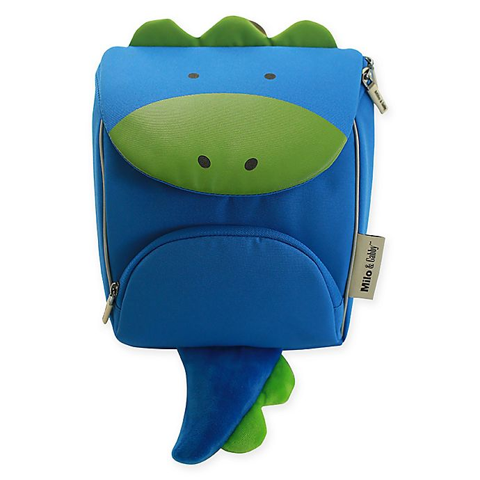 Alternate image 1 for Milo & Gabby Dylan Animal Shaped Backpack with Safety Strap in Blue